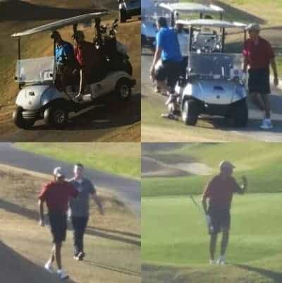 Obama golfs