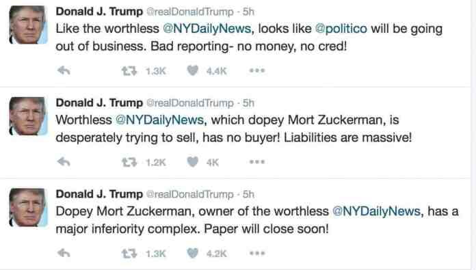 trump daily news responses