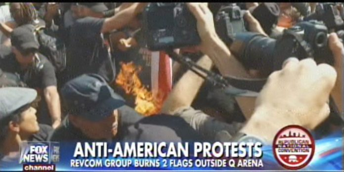 anti-American protests in Cleveland