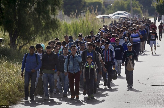 syrian and afghan migrants