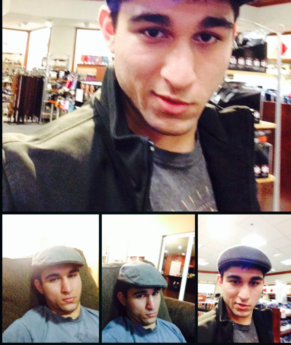 Arlan selfies from what appears to be his Tumblr page