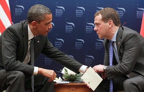 "file photo of Obama telling Medvedev he'd have ""more flexibility after the election""."