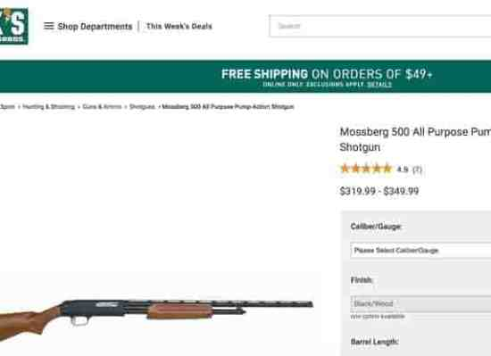 Uh Oh, Mossberg Just Dumped Dick's and Field & Stream, That's Gotta Hurt