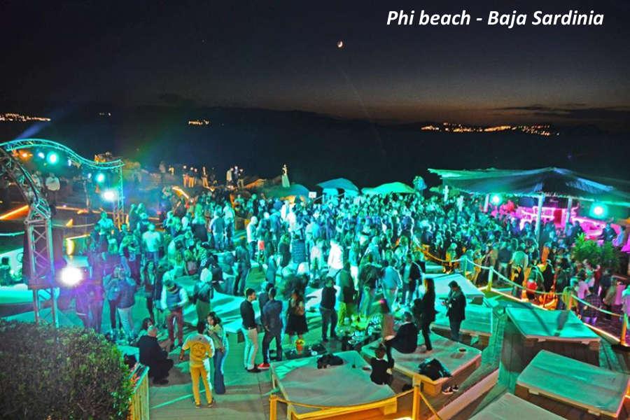 Phi beach club baja sardinia