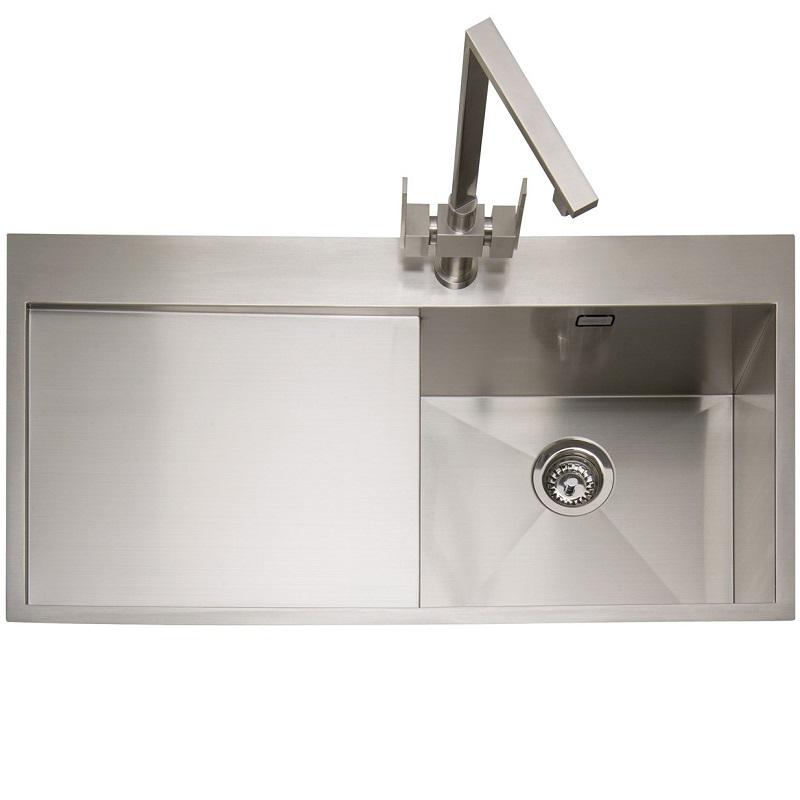 single bowl stainless kitchen sink canac cabinets for sale caple cubit 100 steel inset 8200 p jpg