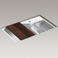 Kohler Indio Undermount Cast Iron Kitchen Sink inc Smart