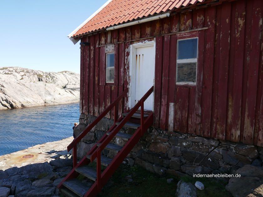 Norwegen Holzhuette