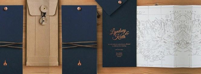 Unique Contemporary Wedding Invitation Jacket Style Card