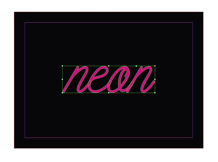 quick tip neon text