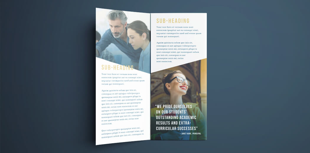 Free College Brochure Template  Simple TriFold Design