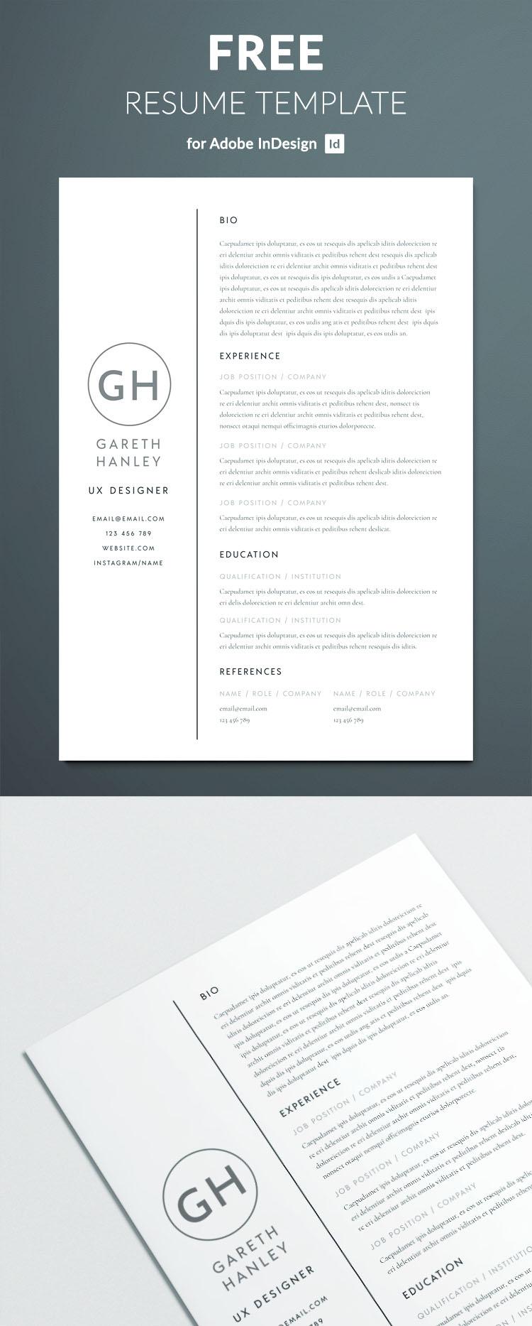 idml resume template