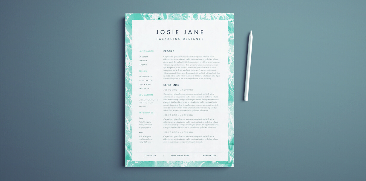 free creative resume templates indesign