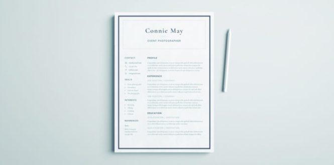 Simple Resume Design - Resume Sample