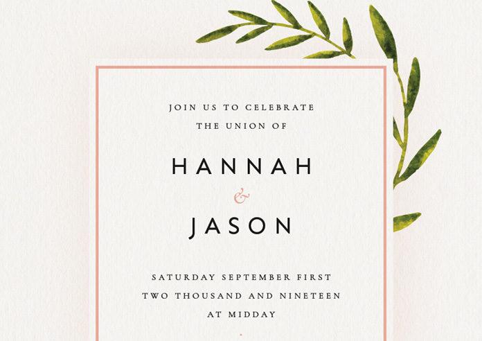 Botanical Rustic Wedding Invite Indesign