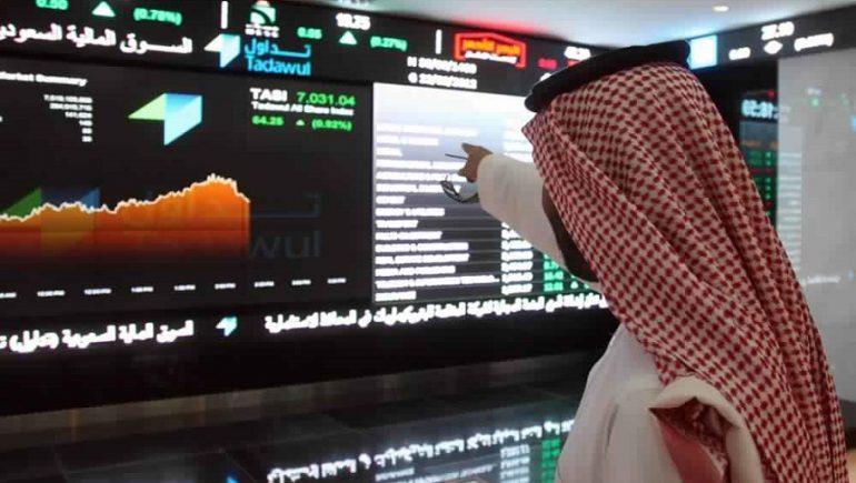 """""""البيع"""" في الدقائق الاخيرة يمحو مكاسب مؤشر الأسهم السعودية خلال الجلسة"""