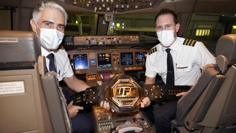 الاتحاد للطيران تنقل اللاعبين والفريق الإداري في بطولة UFC إلى جزيرة النزال ™في أبوظبي