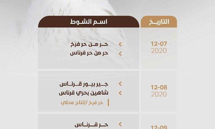 بدء التسجيل بمسابقات مهرجان الملك عبدالعزيز للصقور في 6 مدن .. استحداث فئات جديدة لمسابقتي الملواح والمزاين