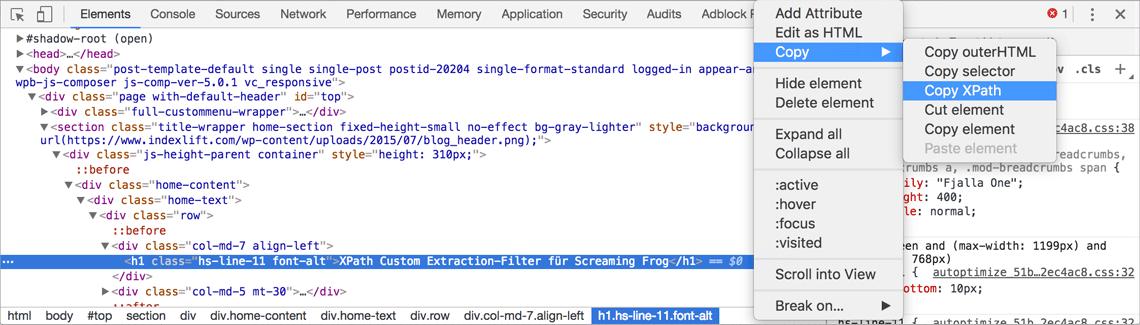 Extension Xpath