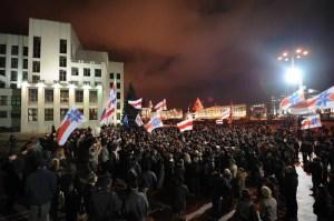 Opposition protesters in Minsk in 2010 demonstrating against president Lukashenko. Kseniya Avimova | Demotix