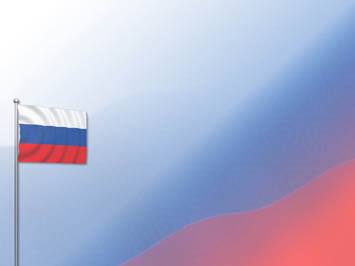 Russia Flag 08 PowerPoint Templates