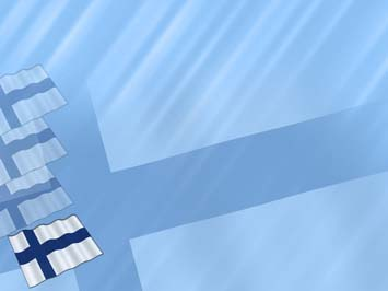 Finland Flag 01  PowerPoint Templates