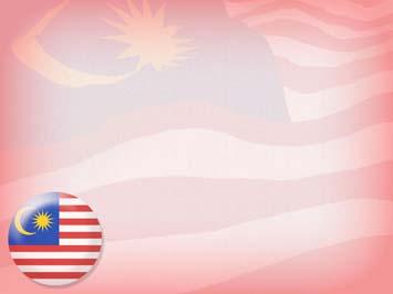 Malaysia Flag 04 PowerPoint Template