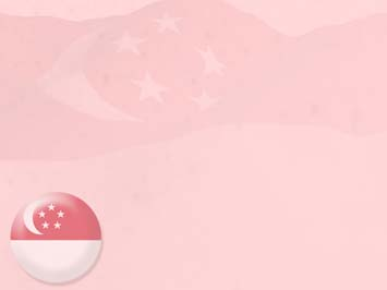 Singapore Flag 04 PowerPoint Template