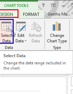 Chart tools design contextual tab of the ribbon also change order data series in powerpoint for windows rh indezine