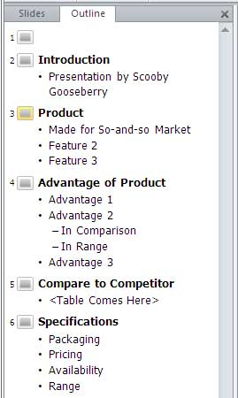 Import Outlines In PowerPoint 2010 For Windows