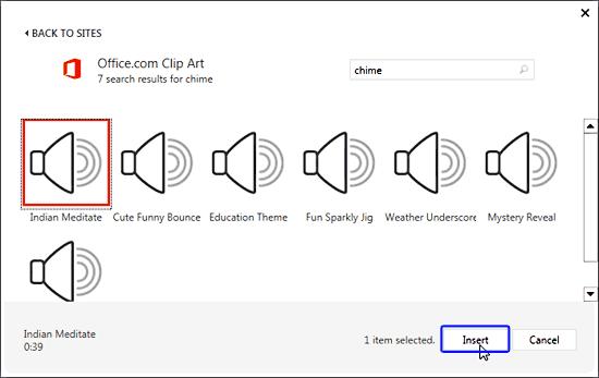 Insert Online Audio (Sound) in PowerPoint 2013 for Windows