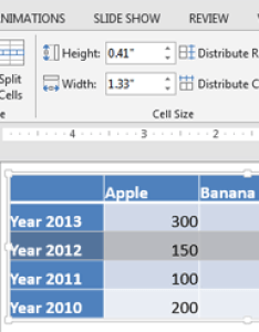 Table row selected also add and remove rows columns in powerpoint for windows rh indezine