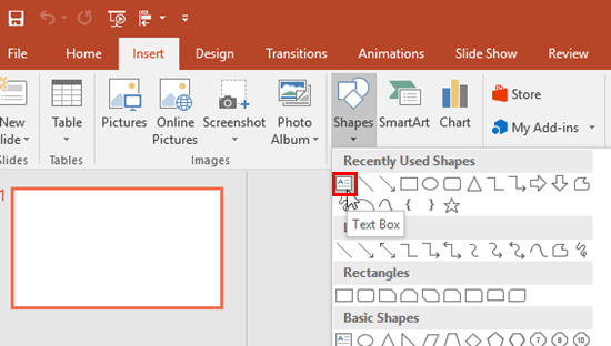 Image result for insert text box powerpoint 2 2013