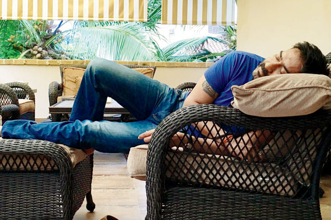Image result for ajay devgan sleeping