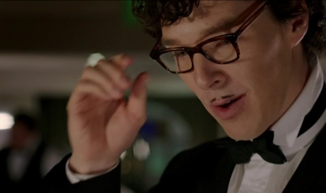 Image result for sherlock as waiter