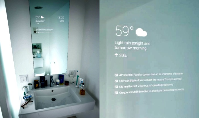 Now Googles Android smart mirror to replace your boring