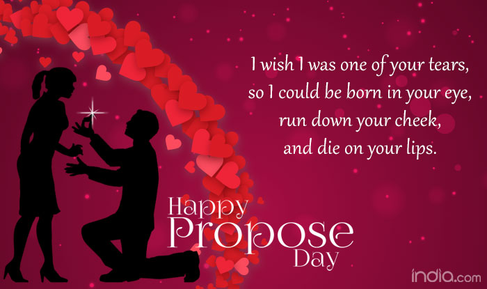 Girl Propose To Boy Wallpaper With Quotes Propose Day 2016 Wishes Best Quotes Sms Facebook Status