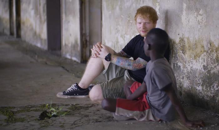 Ed Sheeran helps homeless Liberian street boys during