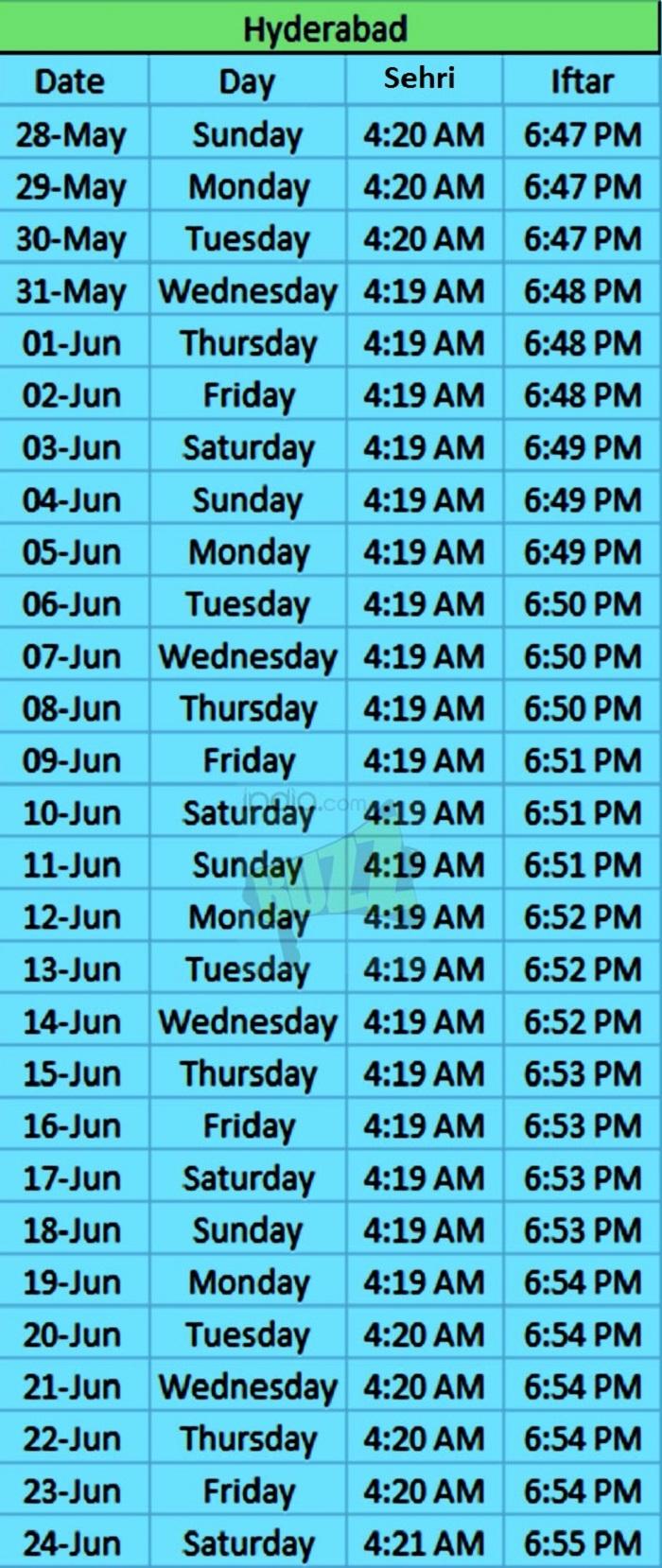 Image Result For Ramadan Calendar Bangalore