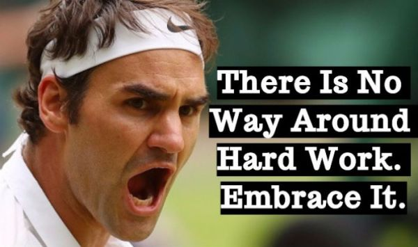 Roger Federer Quotes on Hard Work Success and Family Will