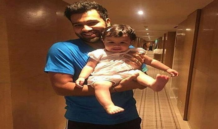 MS Dhoni And Sakshis Daughter Ziva Roots For Rohit Sharma