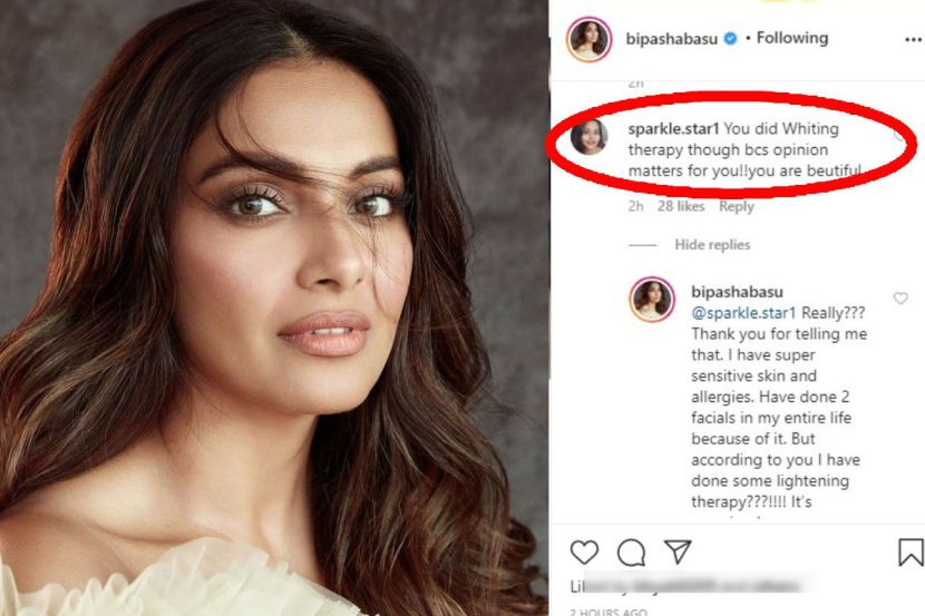 Bipasha Basu Schools a Troll Who Accuses Her of Doing 'Lightening Therapy' to Get a Fairer Skin 1