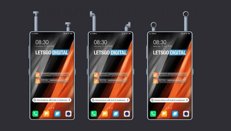 Xiaomi Patents a Smartphone Design With in-built Wireless Earphones