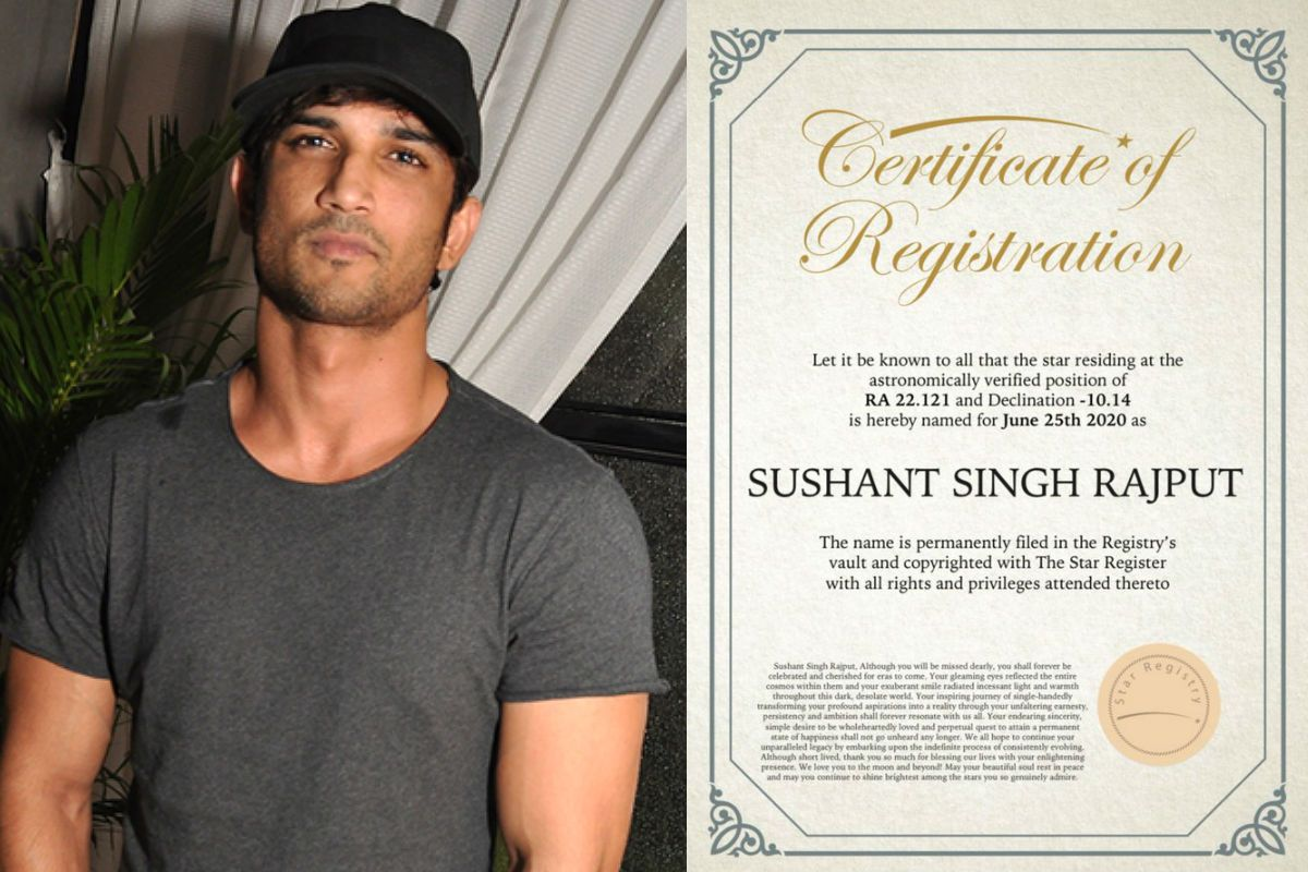 Star Named After Sushant Singh Rajput? Fans Celebrate as a Certificate Announcing The Same Goes Viral 83