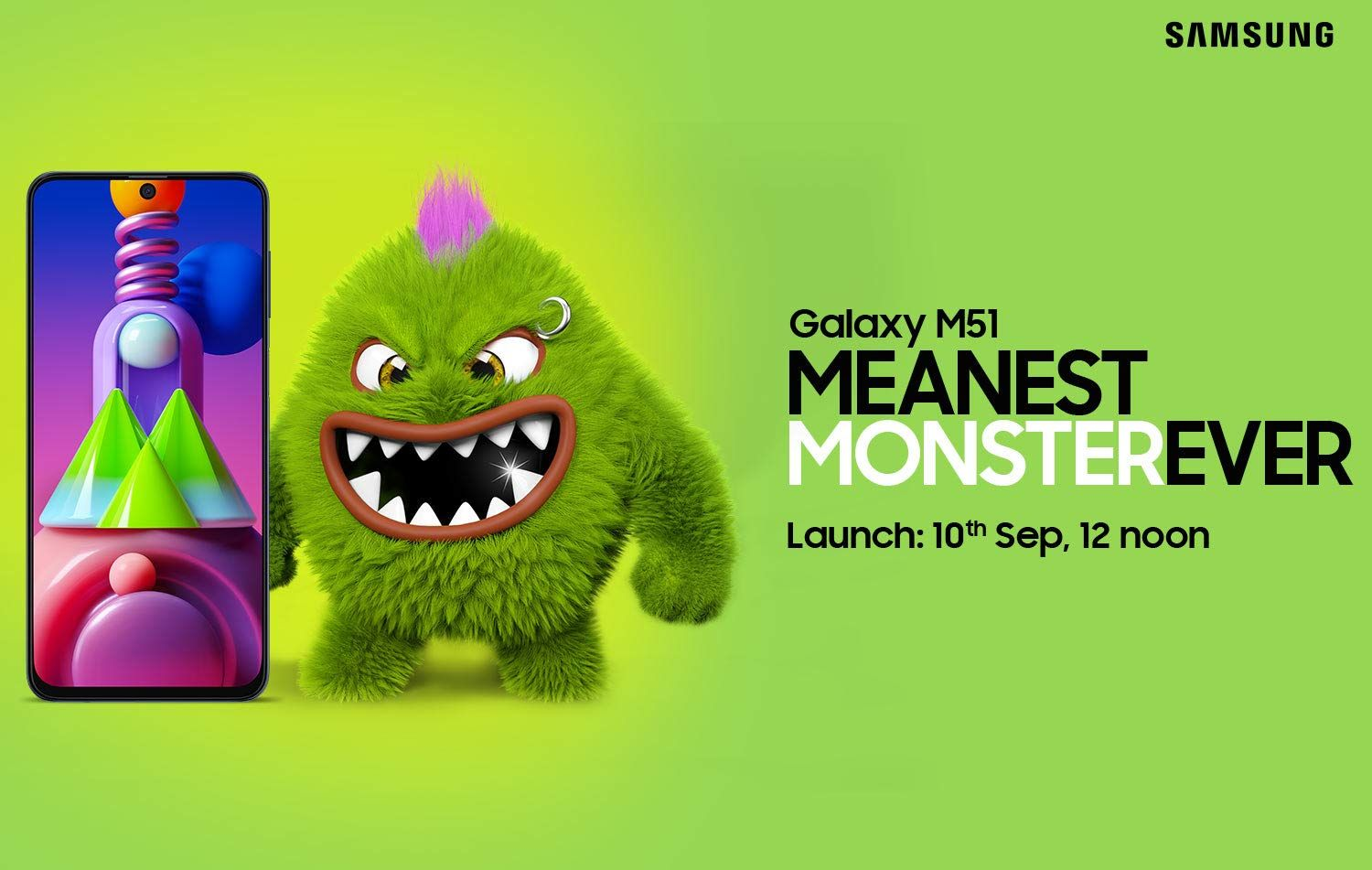 Samsung Galaxy M51 with 7000mah Battery to Launch in India on September 10 – Check Specifications, Price, Camera Features