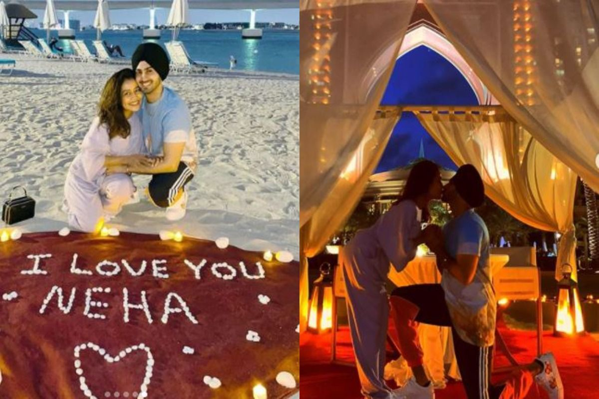 Neha Kakkar, Rohanpreet Singh Kiss Under The Moonlight During Their Dubai Honeymoon, Pictures Go Viral