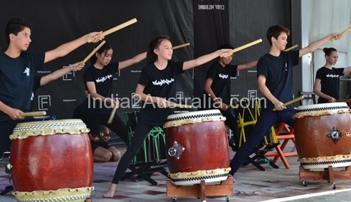 Drummers at Japanese summer festival