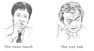 Image result for hand to face gestures