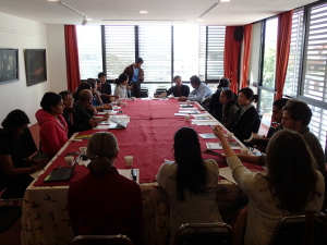 Roundtable discussion with Nepali artists in Kathmandu. (Summer 2014)