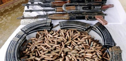 arms recovered in kashmir