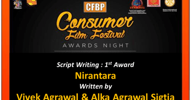 Vivek Agrawal & Alka Agrawal Sigtia Duo Won The Consumer Film Festival Script Writing Award